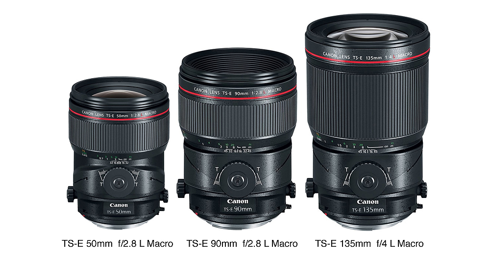Canon Announces Three New Tilt Shifts:  50-mm, 90-mm,  TS-E 135-mm, Macro Lenses