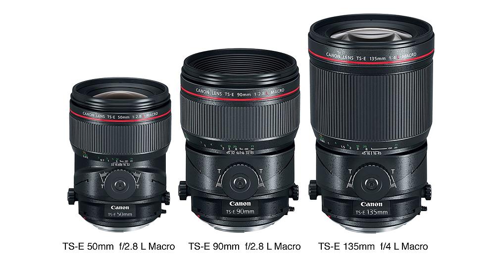 Canon Announces Three New Tilt Shifts: 50-mm, 90-mm, TS-E 135-mm, Macro Lenses